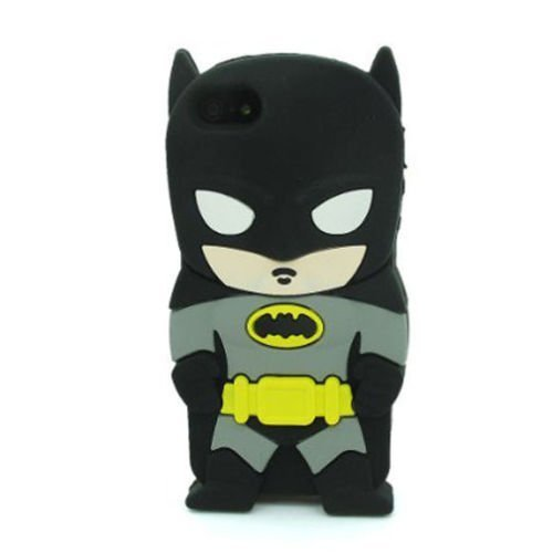 iPhone 6 6S Plus Case, Anya 3D Cute Bow Superhero Series Style Cartoon Soft Rubber Silicone Back Shell Case Cover Skin for Apple Iphone 6 6S 5.5 inch Batman Knight of Arkham Super Hero Gangs at Gotham City Store