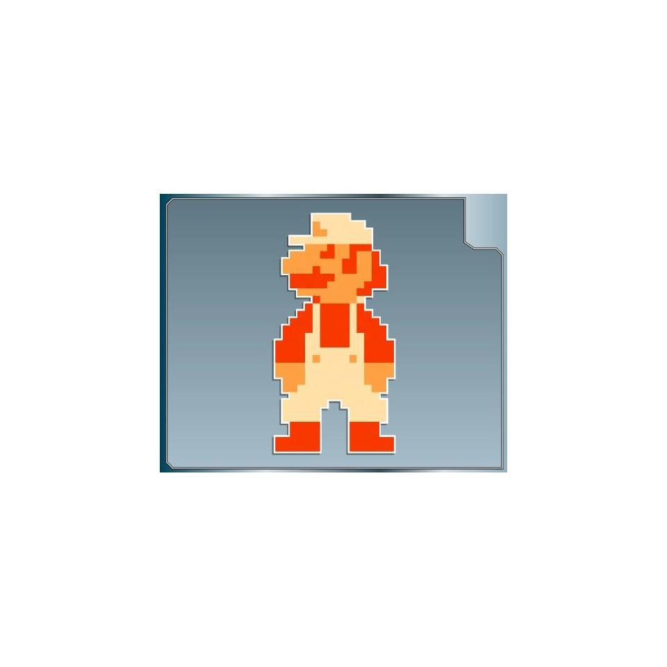 FIRE POWER Mario 8 bit from Super Mario Bros. vinyl decal sticker 4