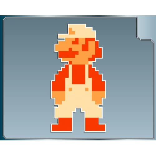 "FIRE POWER Mario 8 bit from Super Mario Bros. vinyl decal sticker 4"""