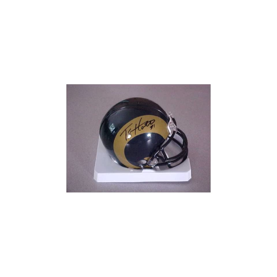 Torry Holt Hand Signed Autographed St Louis Rams Riddell Football Mini Helmet
