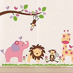 friendly zoo wall sticker amazon co uk kitchen amp home amazon wall decals for your own home researchpaperhouse com