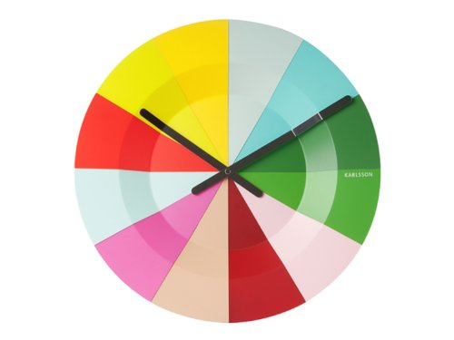 bright colored wall clock