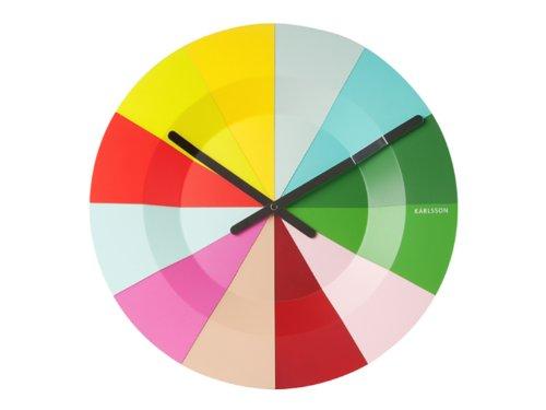 bright colored wall clock