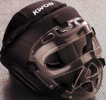 KWON® Kopfschutz Fight CE Helm mit + Gesichtsmaske visier
