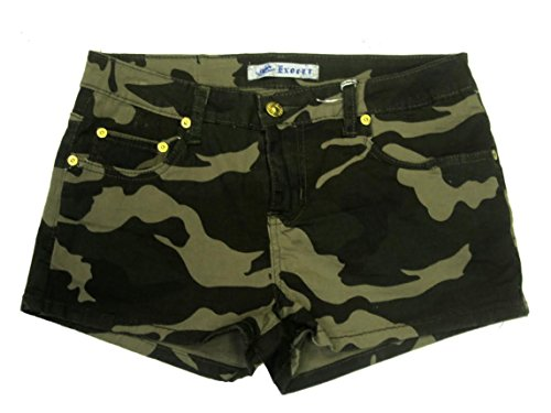 Exocet Women's Camouflage Shorts (7) Green Camouflage Shorts