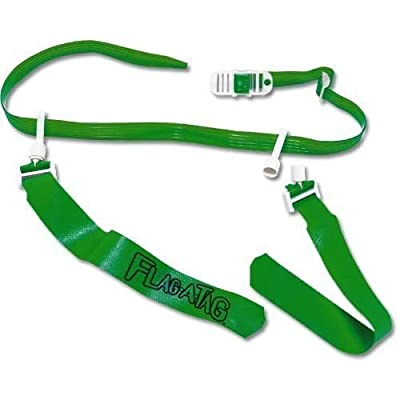 GREEN Flag-a-Tag Sonic Boom FLAG Football 1 Single REPLACEMENT BELT w/ 2 flags