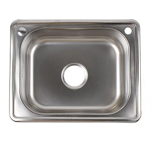 Femor Lavello Cucina Inox Acciaio Vasca Da Incasso Vaschetta Di Scolo Vasca Singola Quadrata