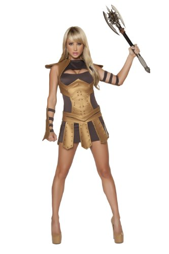 Roma Costume 5 Piece Sexy Warrior Woman Costume
