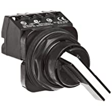 Siemens 52SW2AABA1 Selector Switch Unit, Black Max Corrosion Resistant, 2 Positions, Maintained Operation, Long Lever, A Cam Code, 1 NO + 1NC Contact Blocks