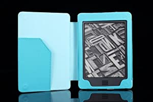 MoKo Cover Case for Amazon Kindle Touch, Light BLUE