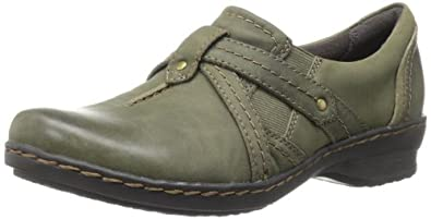 Clarks Women's Ideo Chilly Loafer,Olive,5 M US