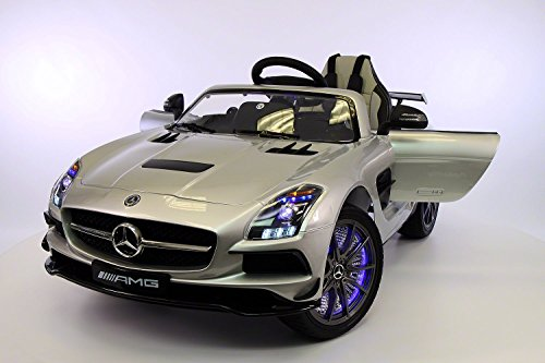 mercedes benz sls amg 12v kids ride on car mp3mp4 color lcd battery powered wheels rc parental remote 5 point safety harness limited edition