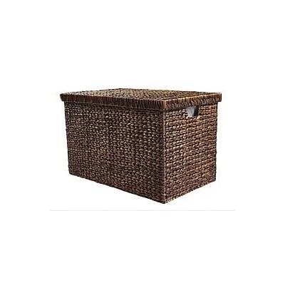 Medium Marlow Wicker Brown Storage Trunk / Hamper