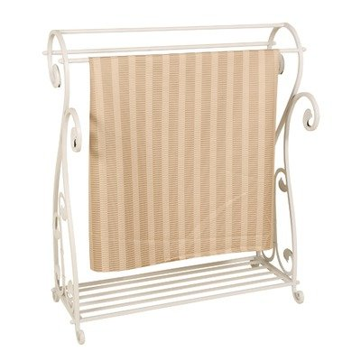Metal Quilt Rack (Antiqued Ivory) (36