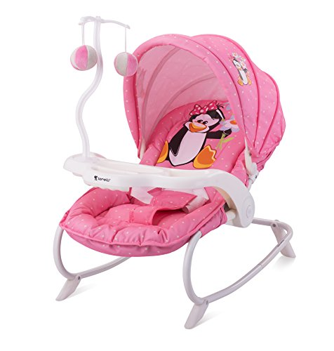 LORELLI BABY ROCKER DREAM TIME PINK PENGUIN Swing Bouncer Rocking Chair  Infant