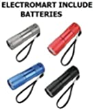 ELECTROMART SUPER BRIGHT 9 LED MINI TORCH- ASSORTED COLOURS SINGLE