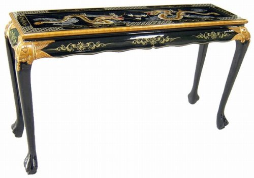 Elegant Oriental Design Sofa Table (Double Dragons)