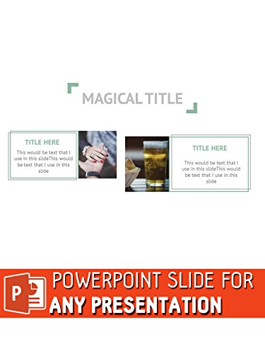 Powerpoint slide for any presentation