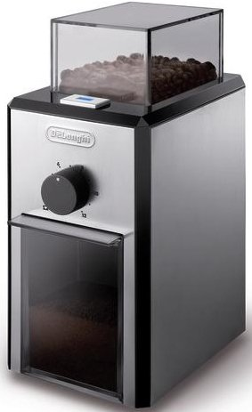 Delonghi Kg89 , 220-240 Volt/ 50-60 Hz. Electric Coffee Grinder, OVERSEAS USE ONLY, WILL NOT WORK IN THE US