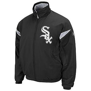 Chicago White Sox Majestic Therma Base Mens Black W logo Jacket
