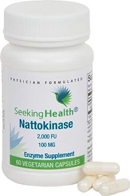 Nattokinase   100 mg Nattokinase   Circulatory System Support   60 Easy-To-Swallow Vegetarian Capsules   Physician Formulated   Seeking Health