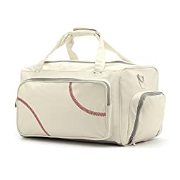 Zumer Sport Duffel, Baseball White, One Size