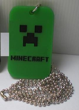 Minecraft Green Dogtag Ball Chain Necklace from CHI