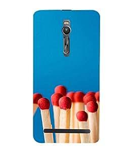 PrintVisa Cute Matchstick Pattern 3D Hard Polycarbonate Designer Back Case Cover for Asus Zenfone 2