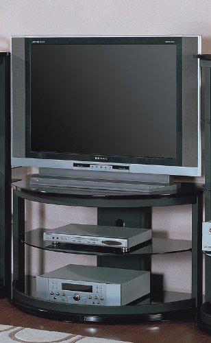 Cheap Sandy Black Metal LCD / Plasma Flat Panel TV Stand (VF_720141)