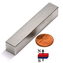 CMS Magnetics Super Strong Grade N50 Neodymium Rare Earth Magnet 3x1/2x1/2 Inches - One Piece