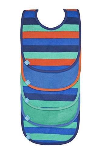 Lassig Value Pack Bibs, Striped Colors Assortment, Boys, Orange/Purple