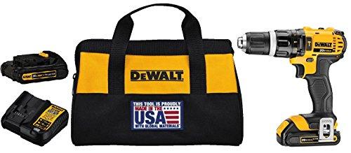DEWALT-DCD785C2-20V-MAX-Lithium-Ion-Compact-15-Ah-Hammer-DrillDriver-Kit