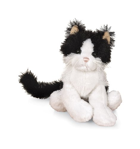 """Ganz Lil'Kinz Cat 6.5"""" Plush, Black And White front-15615"""
