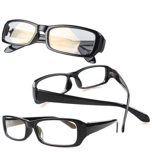 全5色 PCメガネ ブルーライトを約40%カット パソコン用メガネ ケース・レンズクロス付き (ブラック)