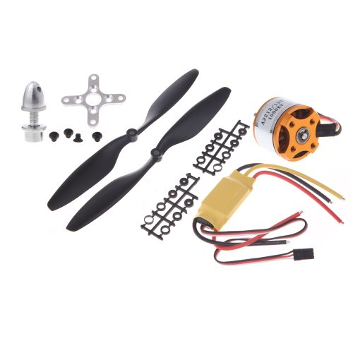 Andoer 4Pcs A2212 1000Kv Outrunner Motor + 4Pcs Hp 30A Esc + 4Pcs 1045 Prop (B) Quad-Rotor