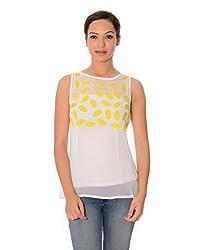 Oviya Women's White Printed Tops