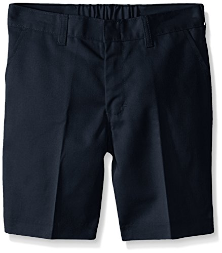 Dickies Big Boys' Flat Front Short - School Uniform, Dark Navy, 8 Husky