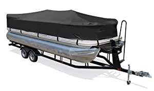 "Taylor Made Products Trailerite Semi-Custom Playpen Cover for Pontoon Boats (15'1"" to 16' Center Line Length, Black Coated Poly)"