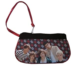 1D One Direction Red Glitter Wrist wristlet Purse Harry Liam Louis Niall Zayn by Accessory Innovations
