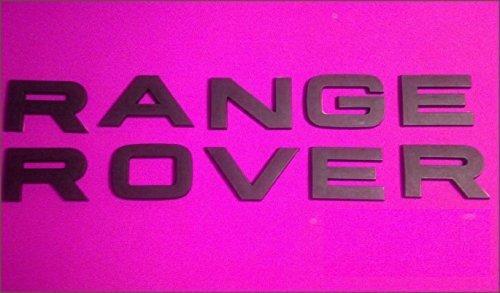 Black Non-shiny Range Rover Logo Badge Letters Hood Trunk by Land Rover (Black Range Rover Letters compare prices)