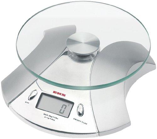 EKS 8240 CR Balance de Cuisine Électronique avec Plateau en Verre 5 kg