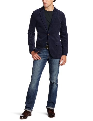 Aviator Men's Weekender Corduroy Blazer, Navy, Medium