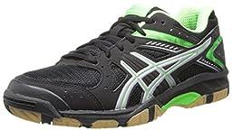 ASICS Women\'s Gel 1150V Volley Ball Shoe,Black/Neon Green/Silver,7 M US