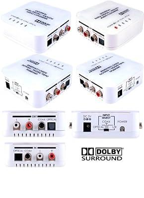 Digital to Analog & Analog to Digital Audio Converter Dolby Decoder Adapter 5/7.1