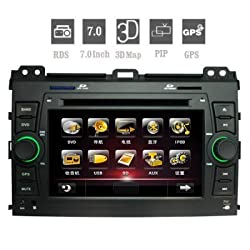 See 2Din Car DVD Player for TOYOTA PRADO 7.0 Inch Digital Touchscreen with GPS Bluetooth Details