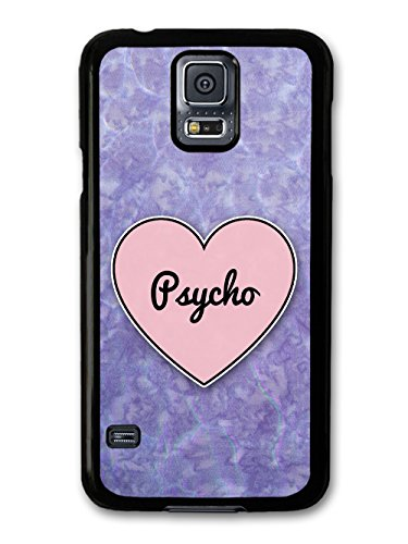 Psycho Heart in Lilac Grunge Hipster Background custodia per Samsung Galaxy S5