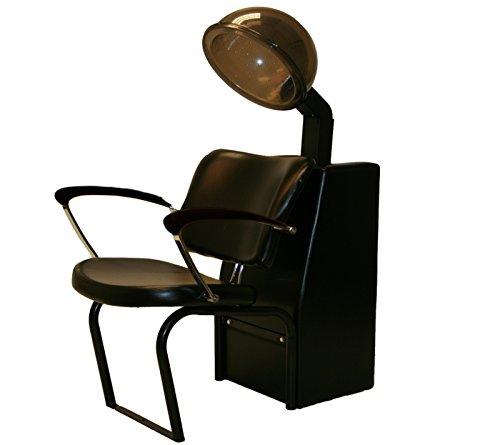 LCL Beauty 1000 Watt Quiet Operation Salon Hooded Hair Dryer with Black Wood Armrest Dryer Chair (Hooded Hair Dryer Chair compare prices)