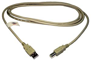 Max Value USB 2.0 Data Cable A Male to B Male, 3 Mtrs, Beige