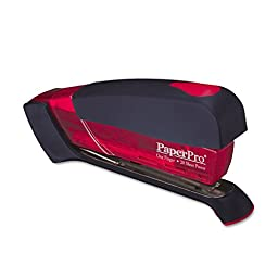 PaperPro One-Finger Desktop Stapler - Translucent Red 1120