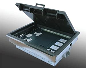 Power data 4 compartment floor box supplied with 1 x for 1 compartment floor box